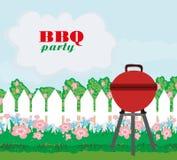 Illustration of backyard barbecue Royalty Free Stock Image
