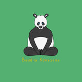 Illustration of Baddha Konasana yoga pose Royalty Free Stock Photo