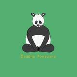 Illustration of Baddha Konasana yoga pose. Animal yoga vector illustration