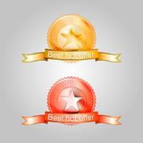Illustration of badges for the best offer Royalty Free Stock Photo
