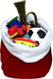 Santa Claus Bag of Toys, Isolated, Christmas