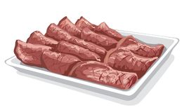 Baked sliced veal Royalty Free Stock Images