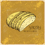Illustration with bakery elements Royalty Free Stock Photo