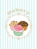 Illustration with bakery logo.. Stock Images