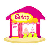 Illustration of bakery shop Royalty Free Stock Image