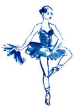 Illustration ballerina dance Royalty Free Stock Photos
