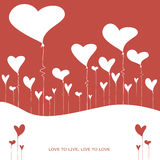 Illustration with balloons in the form of heart. Illustration on a love theme Royalty Free Illustration