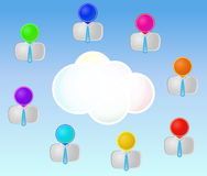 Men cloud Royalty Free Stock Photography