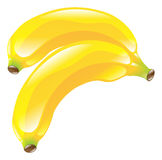 Illustration of banana fruit icon clipart Royalty Free Stock Photography