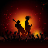 Illustration of band of musician performing Royalty Free Stock Photos