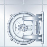 Illustration of Bank Vault Door Stock Photography