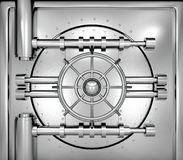 Illustration of bank vault door, front view Royalty Free Stock Images