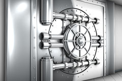 Illustration of bank vault door, front view Stock Photography