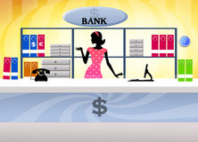 Illustration of bank Stock Images