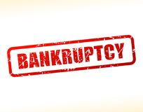 Bankruptcy text buffered. Illustration of bankruptcy text buffered on white background Stock Photo