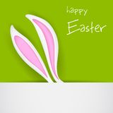 Easter Bunny Banner Stock Image