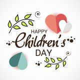 Happy Children`s Day. Illustration of a Banner for Happy Children`s Day Royalty Free Stock Photography