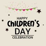 Happy Children`s Day. Illustration of a Banner for Happy Children`s Day Stock Photography