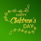 Happy Children`s Day. Illustration of a Banner for Happy Children`s Day Royalty Free Stock Images