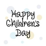 Happy Children`s Day. Illustration of a Banner for Happy Children`s Day Royalty Free Stock Image