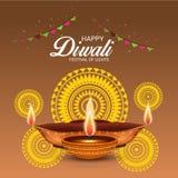 Happy Diwali. Illustration of a Banner for Happy Diwali
