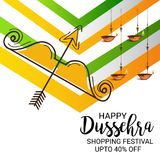 Happy Dussehra. Illustration of a Banner for Happy Dussehra Royalty Free Stock Photos