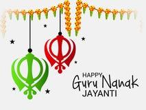 Happy Guru Nanak Jayanti. Stock Photography