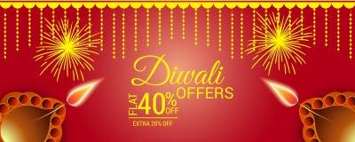 Happy Diwali. Illustration of a Banner for Happy Happy Diwali