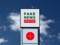 Illustration banner for popular slogan of Fake News stock photography