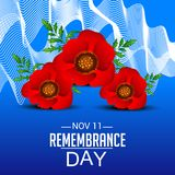 Remembrance Day. Illustration of a Banner for Remembrance Day royalty free illustration