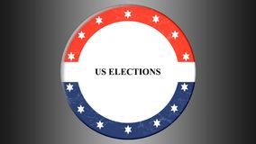 illustration banner with round shape american flag. Presidental election in USA. stock illustration
