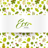 Illustration of banner or strip  paper with lettering on seamless pattern Stock Images