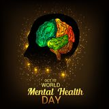 World Mental Health Day. Illustration of a Banner for World Mental Health Day Royalty Free Stock Images