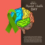 World Mental Health Day. Illustration of a Banner for World Mental Health Day Royalty Free Stock Photography