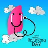 World Pneumonia Day. Illustration of a Banner for World Pneumonia Day Royalty Free Stock Photos
