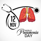 World Pneumonia Day. Illustration of a Banner for World Pneumonia Day Royalty Free Stock Photography