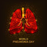 World Pneumonia Day. Illustration of a Banner for World Pneumonia Day Stock Images
