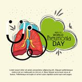 World Pneumonia Day. Illustration of a Banner for World Pneumonia Day Royalty Free Stock Images