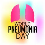 World Pneumonia Day. Illustration of a Banner for World Pneumonia Day Stock Photography