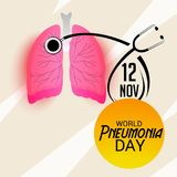 World Pneumonia Day. Illustration of a Banner for World Pneumonia Day Stock Photos