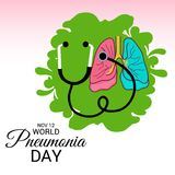 World Pneumonia Day. Stock Photos