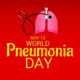 World Pneumonia Day. Royalty Free Stock Photography