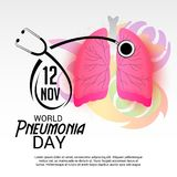 World Pneumonia Day. Royalty Free Stock Image