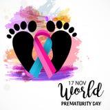 World Prematurity Day. Stock Photography