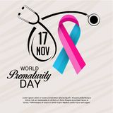 World Prematurity Day. Illustration of a Banner for World Prematurity Day Stock Photography