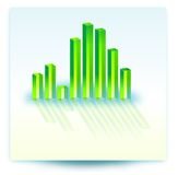 Illustration of bar chart. Depicting growth Royalty Free Stock Images