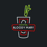 Illustration for bar menu alcoholic cocktail Bloody Mary, . Vector line drawing of a Drink on a background. Stock Photos