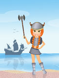 Barbarian girl Royalty Free Stock Photography