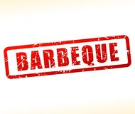 Barbeque stamp on white background. Illustration of barbeque stamp on white background vector illustration