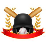 base ball Laurel Wreath with red ribbon vector illustration